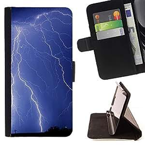 For Samsung ALPHA G850 Case , Naturaleza Rayo- la tarjeta de Crédito Slots PU Funda de cuero Monedero caso cubierta de piel