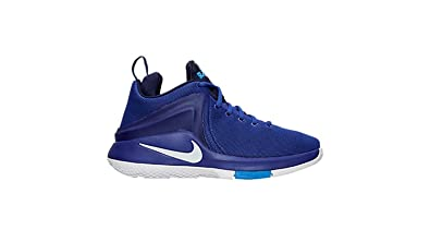 5b6fd764a6af Nike Mens Lebron James Zoom Witness Game Royal White Basketball Shoes (11.5  D(M