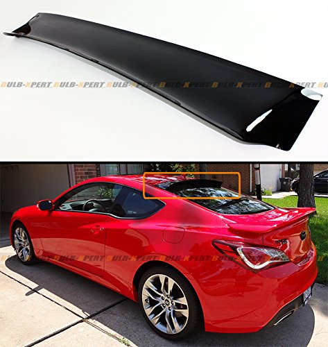 Cuztom Tuning Fits for 1996-2000 Honda Civic 2 Door Coupe JDM Smoke Tinted Rear Roof Aero Window Visor