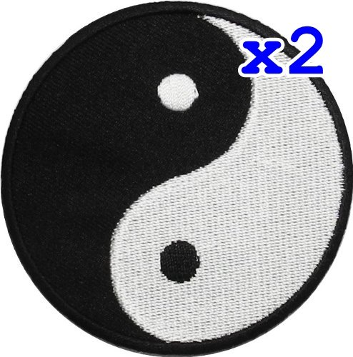 - Pack of 2 Yin Yang Tao Dao Rainbow Chinese DIY Applique Embroidered Sew Iron on Patch YY-06