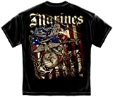 Marine Corps, USMC T-Shirt Elite Breed Usmc Marines Aerial Assault XXX-Large Black