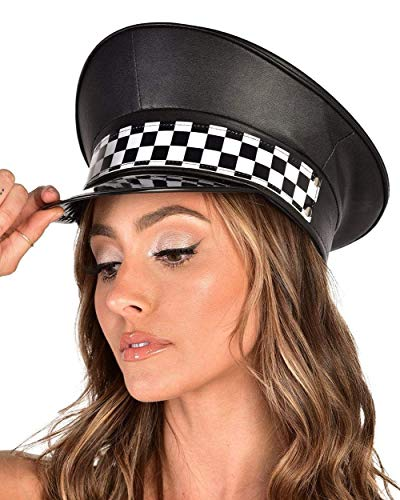 iHeartRaves in Charge Checker Captain's Hat (Black)