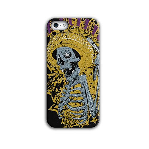 [Mexican Skull Muerte Sombrero NEW Black 3D iPhone 5 / 5S Case | Wellcoda] (Quick Costume Ideas For Work)
