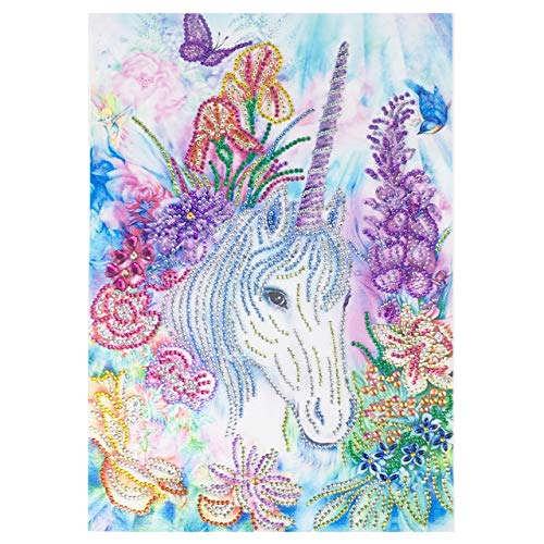 5D Diamond Painting, Full Drill Unicorn Special-Shaped Crystals Embroidery DIY Resin Cross Stitch Kit Home Decor Craft