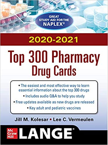 McGraw-Hill's 2020/2021 Top 300 Pharmacy Drug Cards, 5th Edition - Original PDF