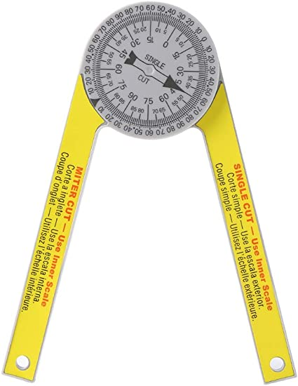 Angle Finder Ruler Miter Saw Protractor Engraved Drawing Measuring Goniometer