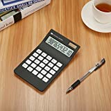 Caveen Basic Calculator 10 Digits Business Desktop Calculator Solar Power Standard Function Financial Calculator Black