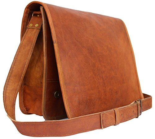 Handmadecraft Classic Leather Satchel Laptop Bag