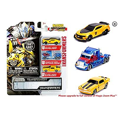 "New DIECAST Toys CAR JADA Metals - Nano - Hollywood Rides - Transformers Series 1 DIE-CAST 3-Pack (~1.65"") 31125: Toys & Games"