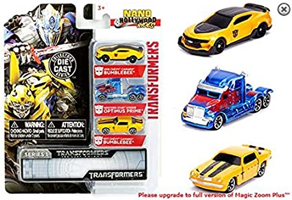 Transformers Optimus Prime Toy Action Figure /& Diecast Toy Car 2 Pack