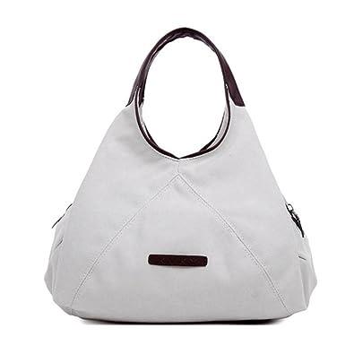 640c36e3a023 LOMOL Korean Style Fashion Casual Canvas Bosom Bag Single Shoulder Backpack  For Men Women(White)