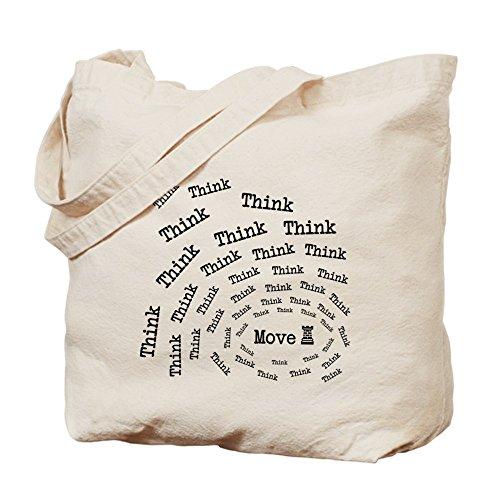 CafePress–Ajedrez Think & Move Tote Bag–Natural gamuza de bolsa de lona bolsa, bolsa de la compra