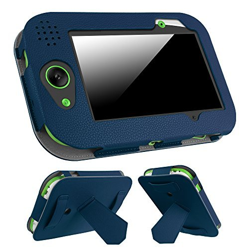 Fintie LeapFrog LeapPad Platinum / LeapPad Ultra XDI / LeapPad Ultra 7-Inch Tablet Case - Premium Vegan Leather Standing Cover with Car Headrest Mount Holder Function Kids Learning Friendly, Navy