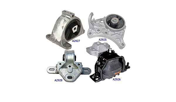 Fits 2001-2004 Chrysler Town /& Country 3.3// 3.8L 2WD Engine Motor /& Trans Mount Set 4PCS 01 02 03 04 A2926 A2928 A2925 A2927