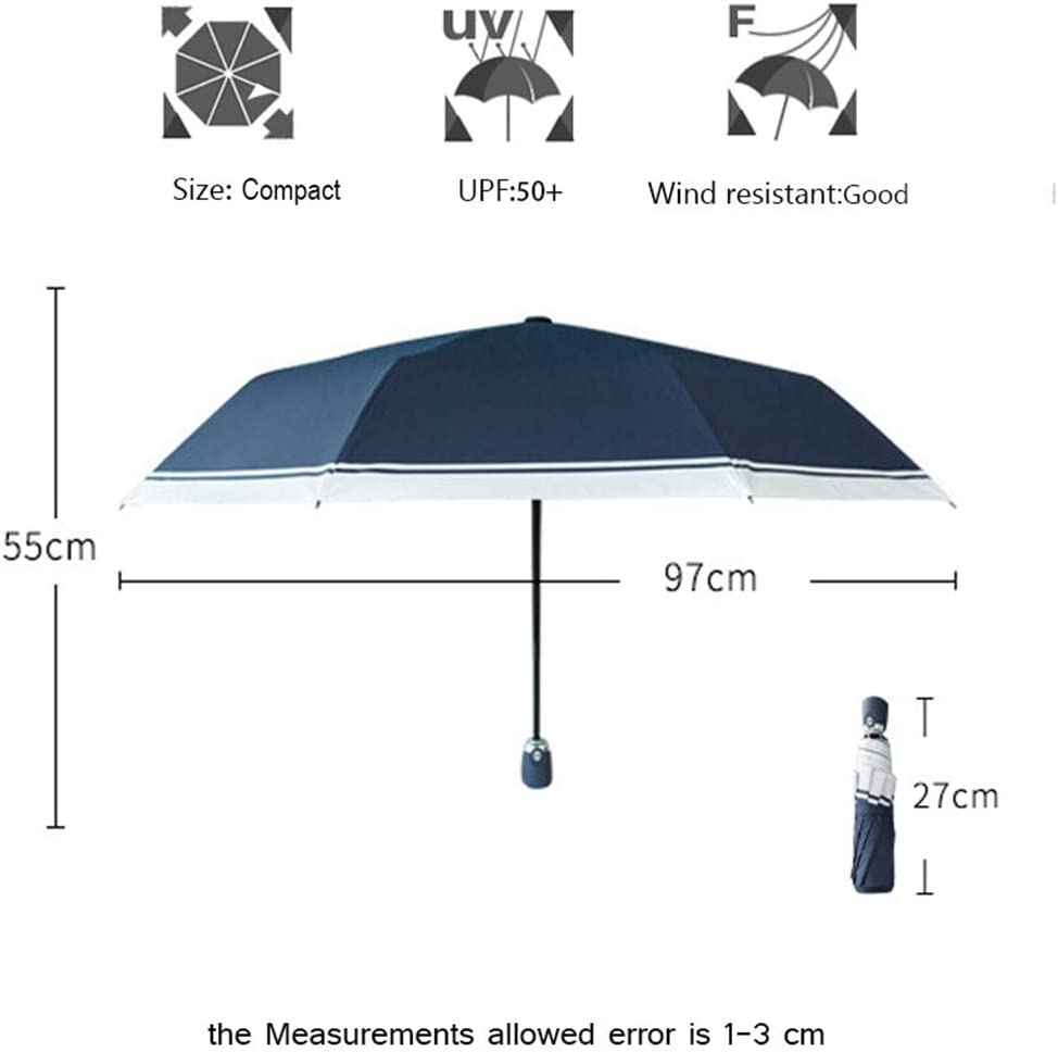 ZhiGe Umbrella Parasol,Women Rain Automatic Umbrella Durable Anti-UV Waterproof Quality Men Umbrellas Three Folding Female Parasol