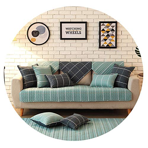 Mr Z Waroom Corner Sofa Covers for Living Room Furniture Covers funda Sofa Couch Cover Sofa Set Covers,Light Blue,90x90cm 1pc,China