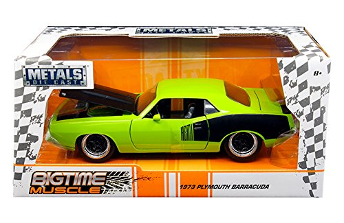 outh Barracuda Green Big Time Muscle 1/24 Diecast Model Car (Muscle Diecast Cars)