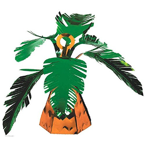 Amscan Summer Fun Palm Tree Balloon Weight Party Decoration, Plastic Foil, 6 0 (Palm Tree Table Decorations)
