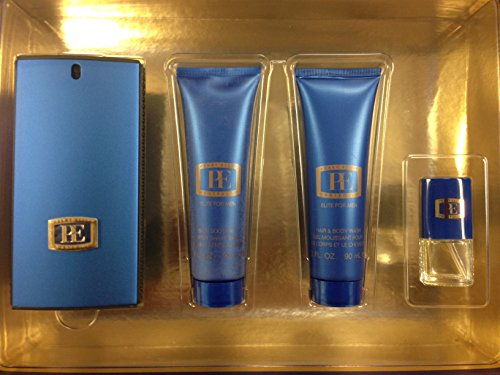 Portfolio Elite By Perry Ellis For Men Edt Spray 3.4 Oz & Aftershave Balm 3 Oz & Hair And Body Wash 3 Oz & Edt Spray .25 Oz Mini by Perry Ellis