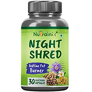 Nutrainix Night Shred Bedtime Thermogenic Fat Burner – Keto-Friendly – Weight Loss, Boost Metabolism with CLA – L…