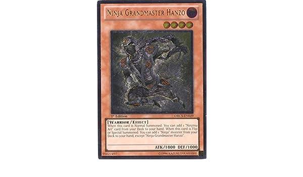 Yu-Gi-Oh! - Ninja Grandmaster Hanzo (ORCS-EN029) - Order of Chaos - Unlimited Edition - Ultimate Rare