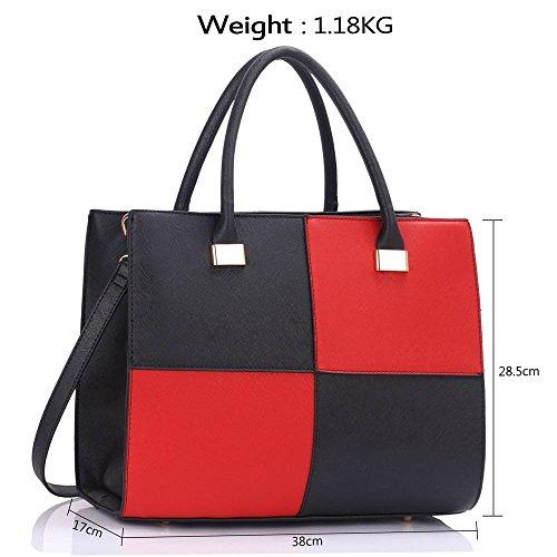 Leather Women's Xl Bag Size Tote Ladies red Designer Quality Faux Style Celebrity Black Cws00153xl Fashion Handbag Bags qqtAwY