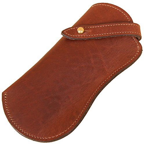 Brown Leather Eyeglass Case Holder for Reading Glasses No. 2 (Leather Littleton)