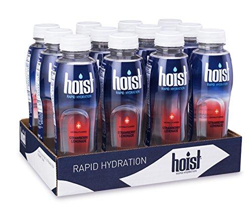 (Hoist Electrolyte-Replenishing Premium Hydration Drink, Strawberry Lemonade, 16.9oz Bottles (Pack of 12))