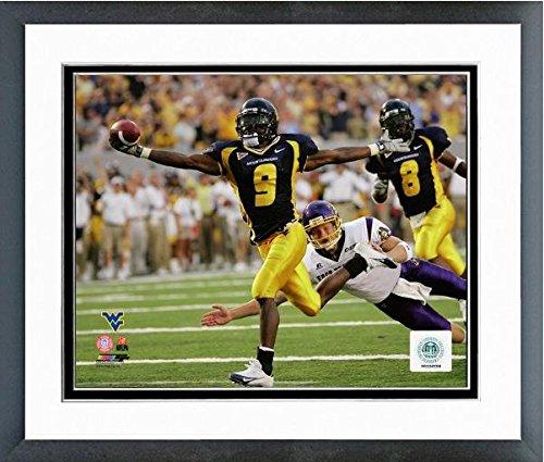 """Adam Pacman Jones West Virginia Mountaineers 2004 Action Photo (Size: 12.5"""" x 15.5"""") Framed"""