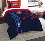 The Northwest Company Officially Licensed NBA Oklahoma City Thunder Reverse Slam Twin Comforter and Sham