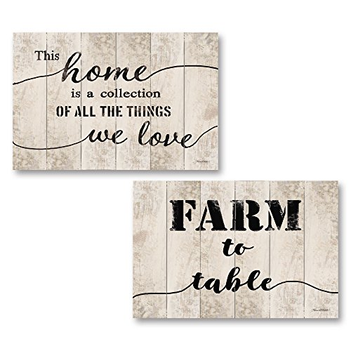 Karen Tribett Paper - Gango Home Décor Vintage Farm to Table & This Home by Karen Tribett (Printed on Paper); Two 18x12in Unframed Paper Posters