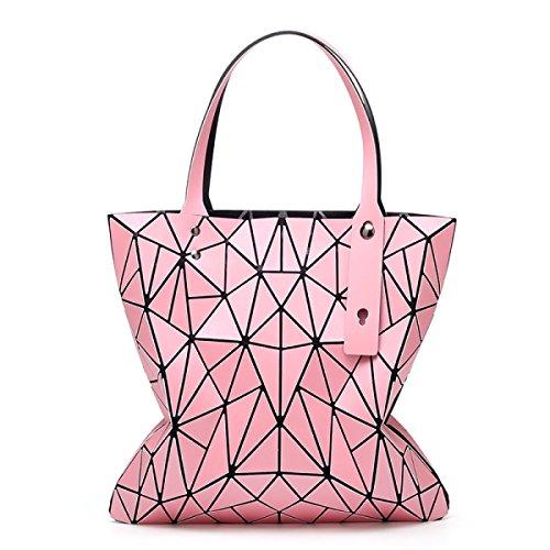Bolso Plegable Geométrico De La Moda Del Bolso De Las Mujeres,Pink Pink