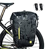 WATERFLY Bike Pannier, Waterproof Adjustable Large Bike Rear Bag Bicycle Cargo Rack Cycling