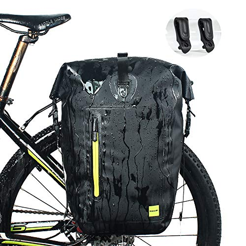Mountain Pannier - WATERFLY Bike Pannier Bag Waterproof Adjustable Large Bike Rear Bag Bicycle Cargo Rack Cycling Accessory for Mountain Road Bike