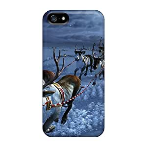 Brand New 5/5s Defender Case For Iphone (santas Sleighride)