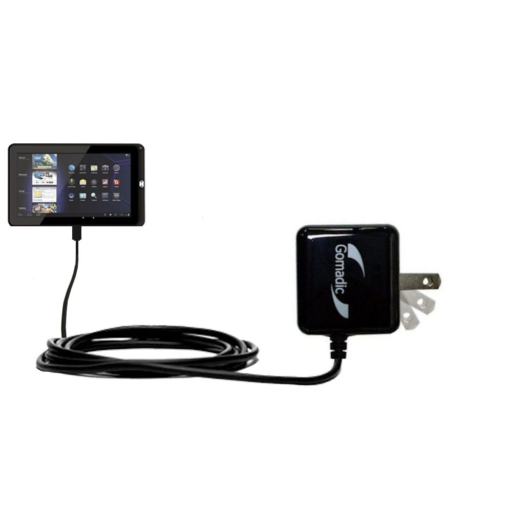 Gomadic High Output Home Wall AC Charger designed for the Coby Kyros MID 1045 with Power Sleep technology - Intelligently designed with Gomadic TipExchange