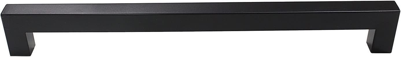 Hole Centers,207mm Length-1 Pack Gobrico 3//5 Wide Square Cabinet Pull Black Stainless Steel Bathroom Kitchen Cupboard Handle,7-1//2 192mm
