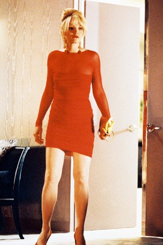 Nostalgie Magasin Interrupteur Ellen Barkin Couleur Robe Rouge 11x17inch (28x43cm) Mini Affiche
