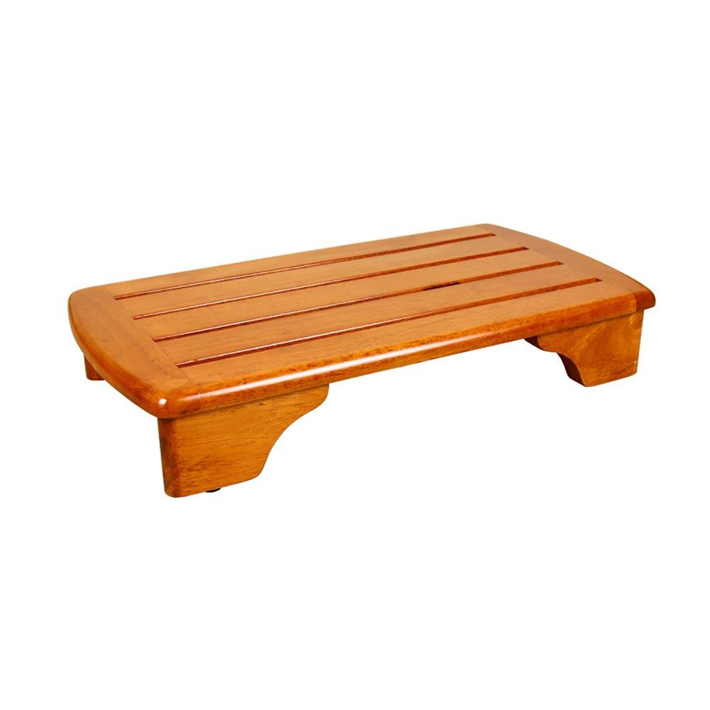 LJHA Sgabello pieghevole Poggiapiedi in legno massello retrò/sgabello da bagno impermeabile per scale/piedini da comodino 68 * 36 cm Sedia pieghevole cucina yizijiagongchang