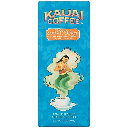 Kauai Coffee, Coconut Caramel Crunch, Ground Coffee, 10oz Bag (Pack of 2) by Kauai Coffee