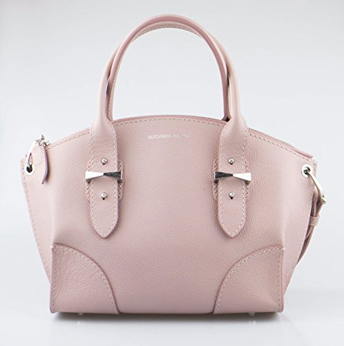 Alexander Mcqueen Bag - ALEXANDER McQUEEN Pink Patchouli Small Legend Leather Tote Handbag