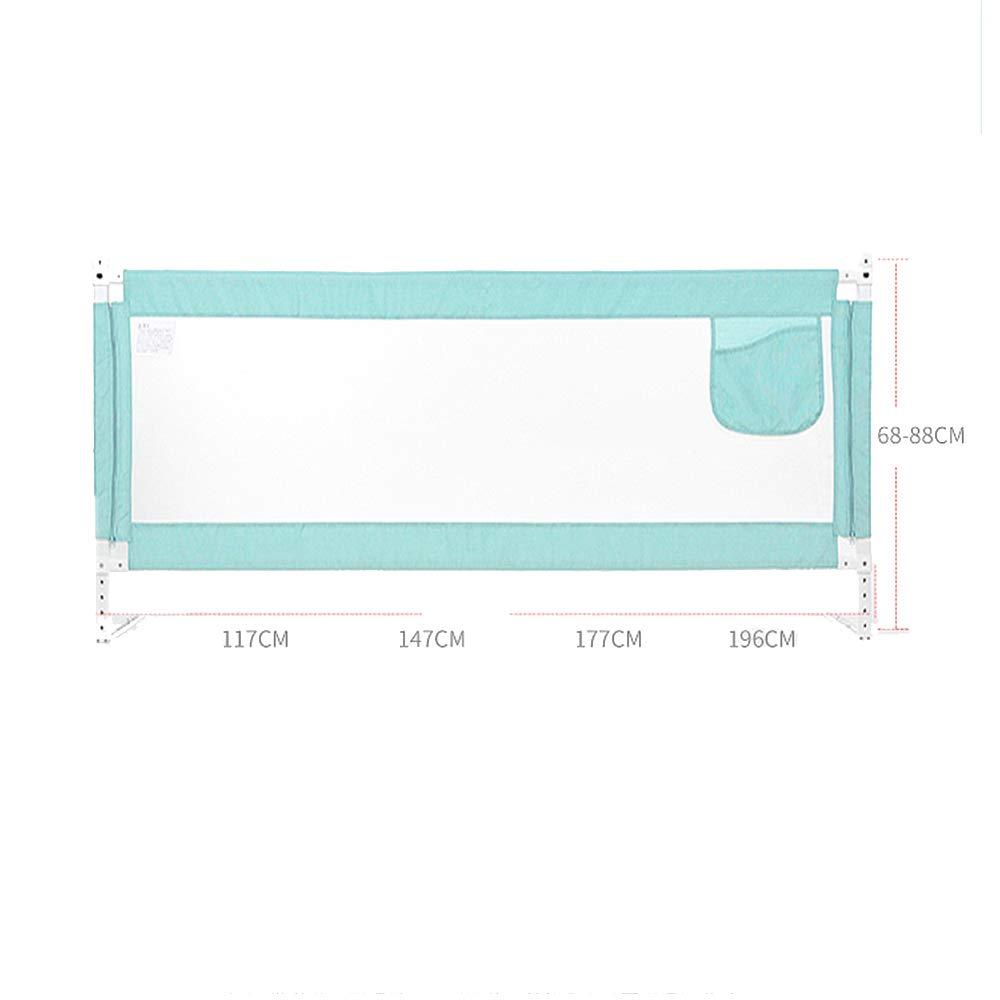 150cm 180cm Barandillas para camas LHA Cerca de la Cama Beb/é Ca/ída de la Cama Guardrail Levantamiento Vertical Universal -1.2cm 200cm Color : Green, Tama/ño : L-120cm