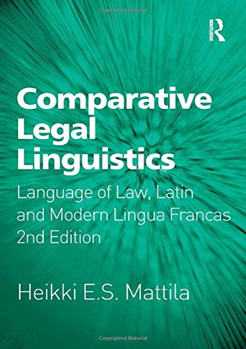 Comparative Legal Linguistics: Language of Law, Latin and Modern Lingua Francas by Brand: Ashgate Pub Co