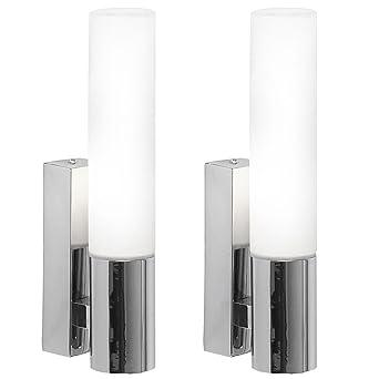 2er Set Wand Spot Strahler Leuchte Lampe Licht Ip44 Indoor
