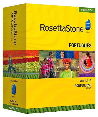 Rosetta Stone Homeschool Portuguese (Brazilian) Level 1-3 Set including Audio Companion