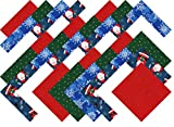 Christmas Red White and Blue Collection 40 Precut 5-inch Quilting Fabric Squares