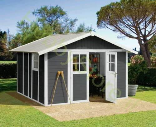 Caseta de jardín deco 7,5 grigia Grosfillex: Amazon.es: Jardín