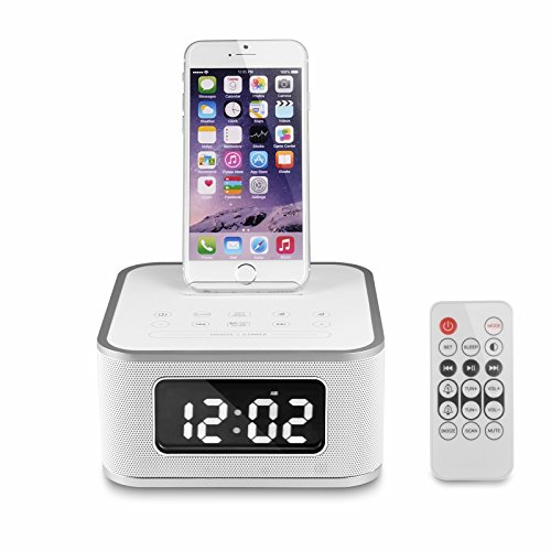 ROV New Wireless Remote Control Bluetooth Loudspeakers Phone Charging Dock with LCD Digital Snooze Alarm Clock and FM Radio New Loudspeakers