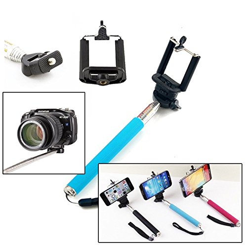 Bluetooth Monopod with Remote, Extendable Selfie Stick for