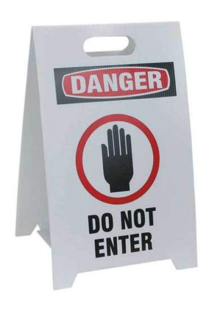 Floor Stand Safety Sign,12 x 20 TP-DO NOT